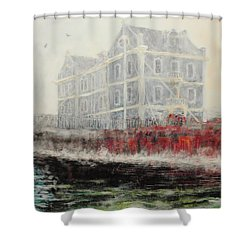 Captains Manor In The Fog Shower Curtain by Michael Durst