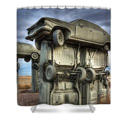 Carhenge Automobile Art 2 Shower Curtain by Bob Christopher