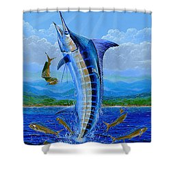 Caribbean Blue Off0041 Shower Curtain by Carey Chen