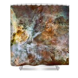 Carina Nebula Shower Curtain by Adam Romanowicz