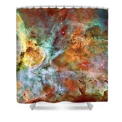 Carina Nebula - Interpretation 1 Shower Curtain by The  Vault - Jennifer Rondinelli Reilly