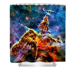 Carina Pillar Shower Curtain by Benjamin Yeager