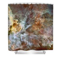 Carinae Nebula Shower Curtain by Sebastian Musial