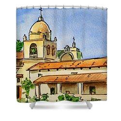 Carmel By The Sea - California Sketchbook Project  Shower Curtain by Irina Sztukowski