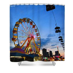 Carnival Colours Shower Curtain by Kaeleigh Gray