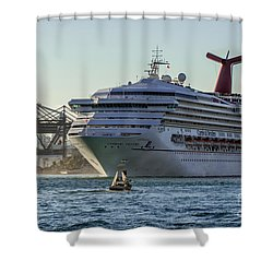 Carnival Cruise Line Destiny Shower Curtain by Rene Triay Photography