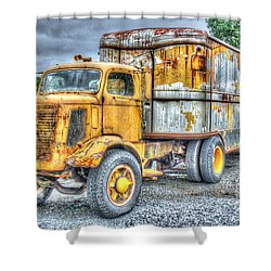 Carrier Shower Curtain by Dan Stone