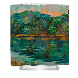 Carvins Cove Shower Curtain by Kendall Kessler