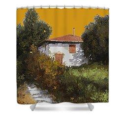 Casa Al Tramonto Shower Curtain by Guido Borelli