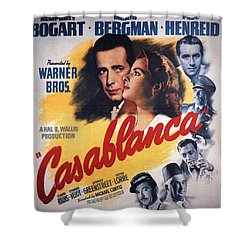 Casablanca In Color Shower Curtain by Georgia Fowler