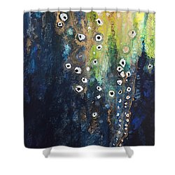 Cascading Colors II Shower Curtain by Tara Thelen