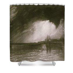 Castania Sicily Shower Curtain by Joseph Mallord William Turner