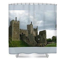 Castle Curtain Wall Shower Curtain by Ann Horn