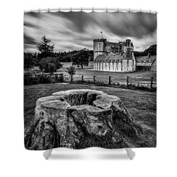 Castle Fraser Shower Curtain by Dave Bowman