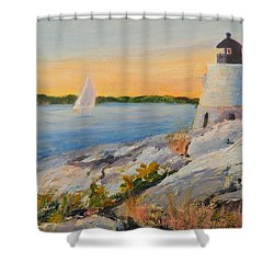 Castle Hill Light House Newport Ri Shower Curtain by Patty Kay Hall
