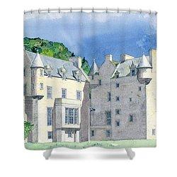 Castle Menzies Shower Curtain by David Herbert