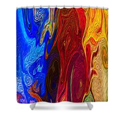 Castles Made Of Sand Shower Curtain by Omaste Witkowski