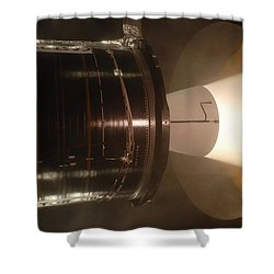 Shower Curtain featuring the photograph Castor 30 Rocket Motor by Science Source