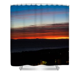 Catalina Island Sunset Shower Curtain by Penny Lisowski