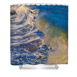 Catch A Wave Shower Curtain by John Haldane