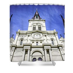 Cathedral-basilica Of St. Louis King Of France Shower Curtain by Paul Velgos