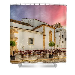 Cathedral Cafe Shower Curtain by English Landscapes
