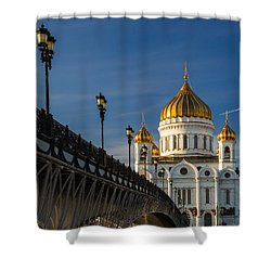 Cathedral Of Christ The Savior In Moscow - Featured 3 Shower Curtain by Alexander Senin
