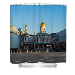 Cathedral Of Our Lady Of Kazan - Square Shower Curtain by Alexander Senin
