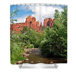 Cathedral Point - Sedona Arizona Shower Curtain by Gregory Ballos