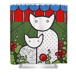 Cats 5 Shower Curtain by Trudie Canwood