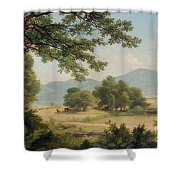 Catskill Meadows In Summer Shower Curtain by Asher Brown Durand