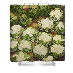Cauliflower March Shower Curtain by Jen Norton