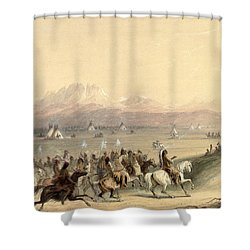 Cavalcade Shower Curtain by Alfred Jacob Miller