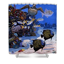 Cayman Reef Re0024 Shower Curtain by Carey Chen