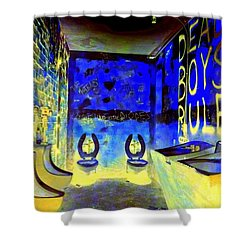 Cbgb's Notorious Mens Room Shower Curtain by Ed Weidman