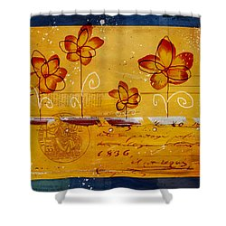 Celebrate - Txt02t2 Shower Curtain by Variance Collections