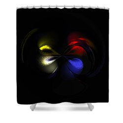 Celestial Dance Digital Art Shower Curtain by Georgeta  Blanaru