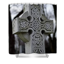 Celtic Cross 10194 Shower Curtain by Guy Whiteley