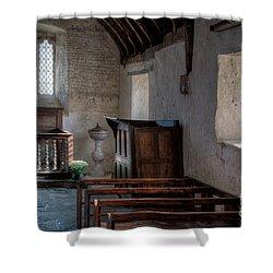 Celynnin Church Shower Curtain by Adrian Evans
