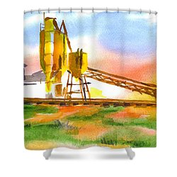 Cement Plant Across The Tracks Shower Curtain by Kip DeVore