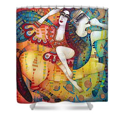 Centaur In Love Shower Curtain by Albena Vatcheva