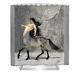 Centaur Shower Curtain by Quim Abella