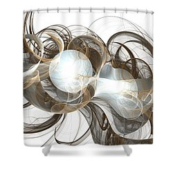 Central Core Shower Curtain by Anastasiya Malakhova