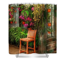 Chair - The Chair Shower Curtain by Mike Savad