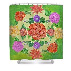 Chaitra Mandala Shower Curtain by Sonali Gangane
