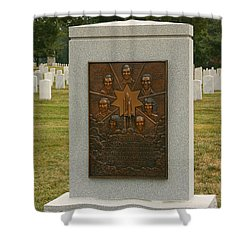 Challenger Space Shuttle Memorial Shower Curtain by Kim Hojnacki