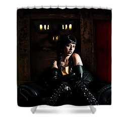 Chamber Of Horror Shower Curtain by Nathan Wright