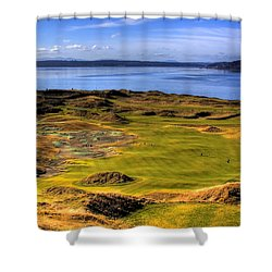 Chambers Bay Golf Course II Shower Curtain by David Patterson