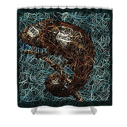 Chameleon - Fb0102b Shower Curtain by Variance Collections