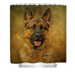 Chance - German Shepherd Shower Curtain by Sandy Keeton